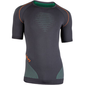 UYN Multisport Evolutyon UW Blouse korte mouwen Heren, charcoal/green/orange shiny